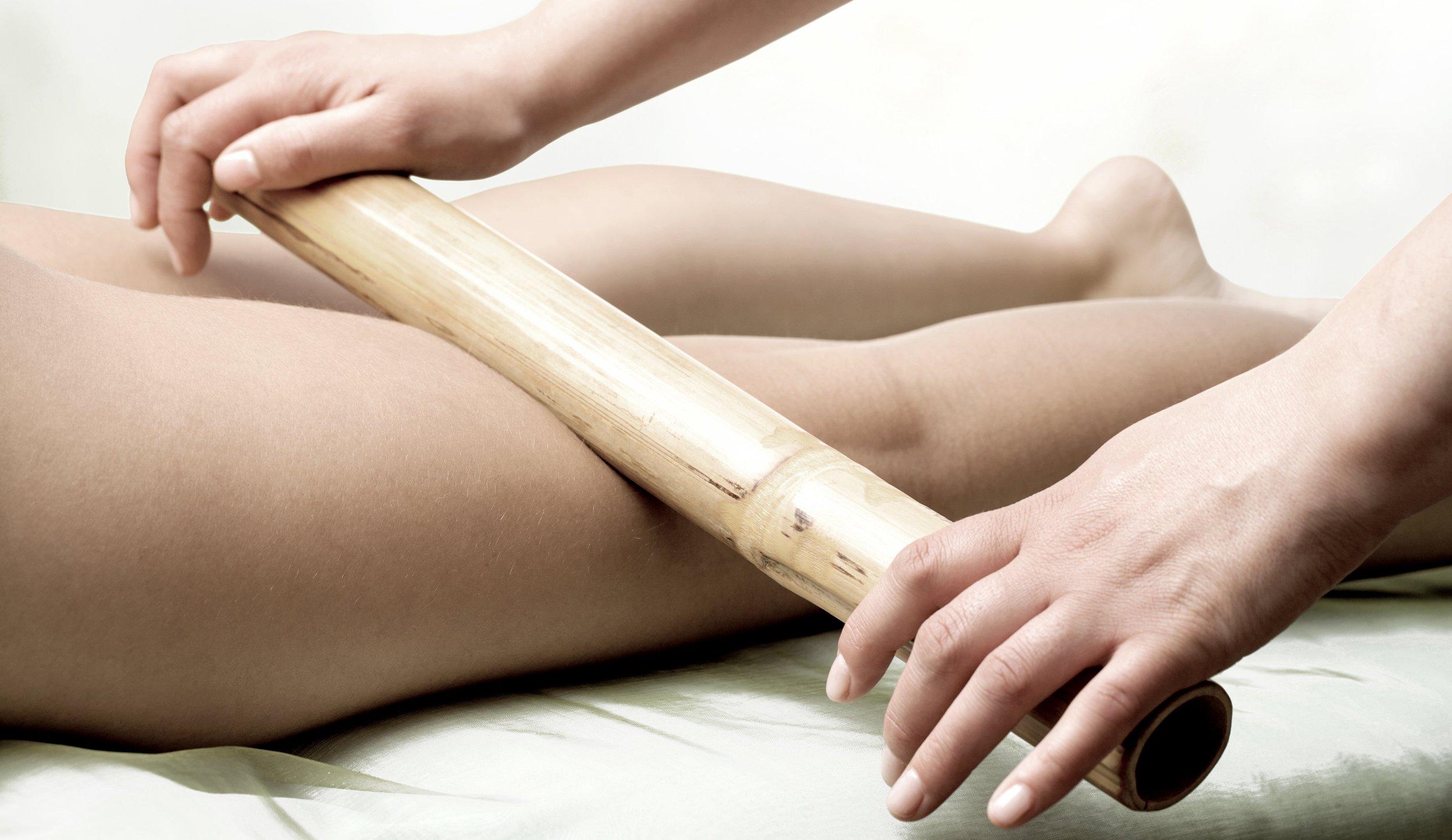 masaje bambú